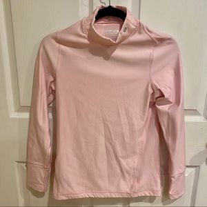 Layer 8 Pink Thick Turtleneck Workout Top - S